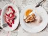 Y de postre, tarta de zanahoria y pastel de queso - Bar Calders / Foto: Corina de Castro para Perricatessen
