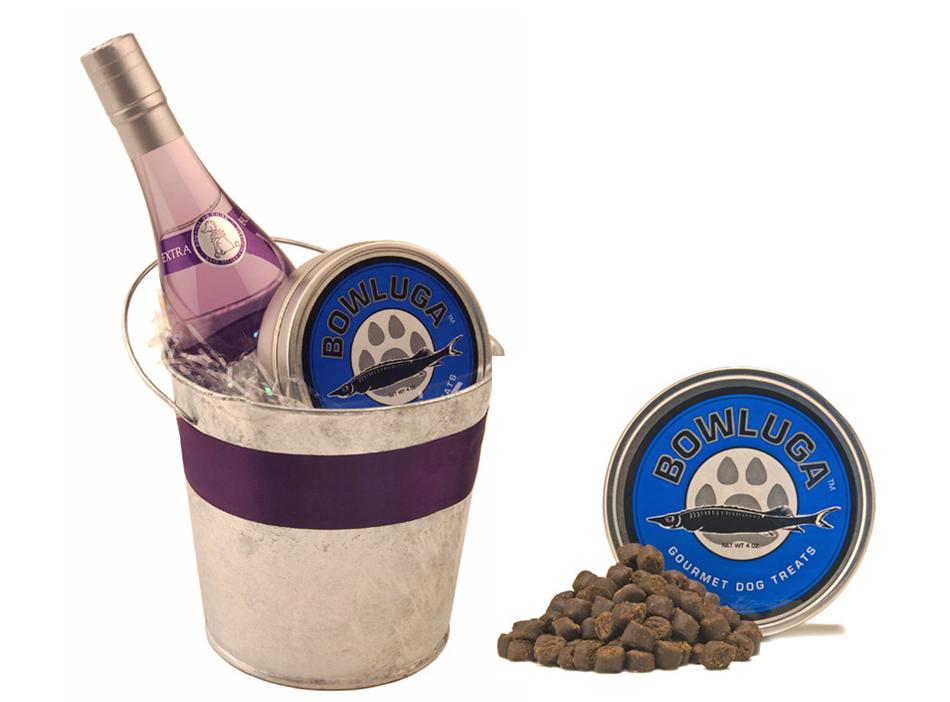 Nuestra propuesta más gourmet: champagne y caviar para perros