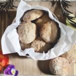 Receta de galletas de manzana y crema de cacahuete con avena